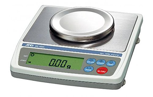Lab Balance, A&D Weighing EK-300i Everest Compact Balance Series, 300 Grams x 0.01 Grams NEW !! (Measures in G, OZ, OWT, DWT, CT, GN) by A&D Weighing