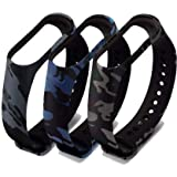 Datalact Camouflage Strap for 4 and 3 Band Smart Band Strap Pack of 3 Smart Band Strap  (Mullti Color)