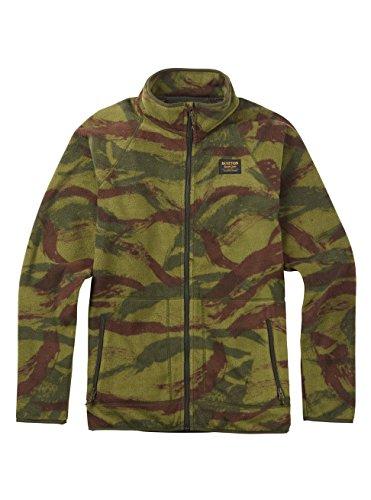 Burton Men's Ember Full-Zip Fleece Hoodie, Brush Camo, Large - Burton Hooded Fleece Jacket
