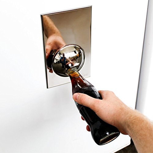 suck uk bottle opener fridge magnet chrome new ebay. Black Bedroom Furniture Sets. Home Design Ideas
