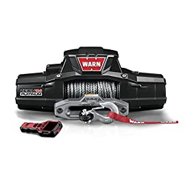 WARN 95960 ZEON 12-S Platinum 12V Electric Winch with Spydura Pro Synthetic Cable Rope: 3/8″ Diameter x 80′ Length, 6 Ton (12,000 lb) Capacity