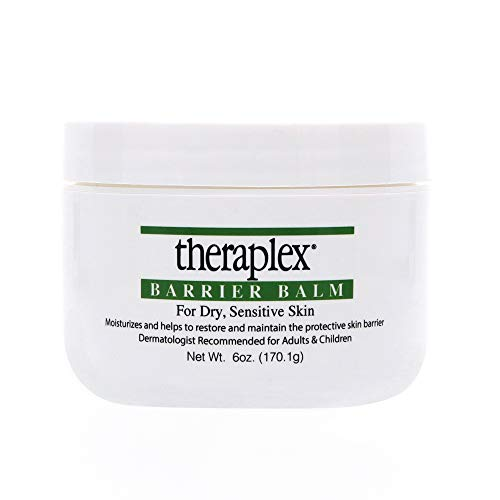 Theraplex Barrier Balm Moisturizer - Restores Dry Sensitive Skin, No Parabens or Preservatives, Noncomedogenic, and Hypoallergenic, Fragrance-Free, Dermatologist recommended (6 oz) (Therapies Emollient)