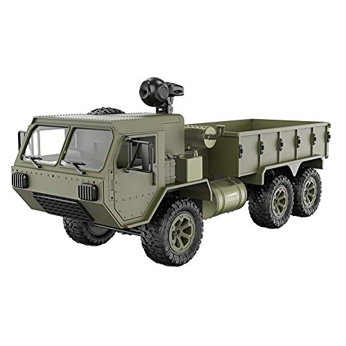 Sumerlly 1/16 2.4G 6WD RC Car Proportional Control Army Military Truck Model Toys Kids Gift ()