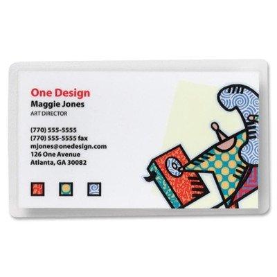 명함 Laminating Pouch (100 Per Box) [2 장 세트]/Business Card Laminating Pouch (100 Per Box) [Set of 2]