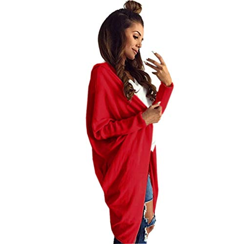 Spbamboo Womens Cardigan Oversize Long Jacket Open Front Bat Sleeve Coat Outwear by Spbamboo (Image #8)