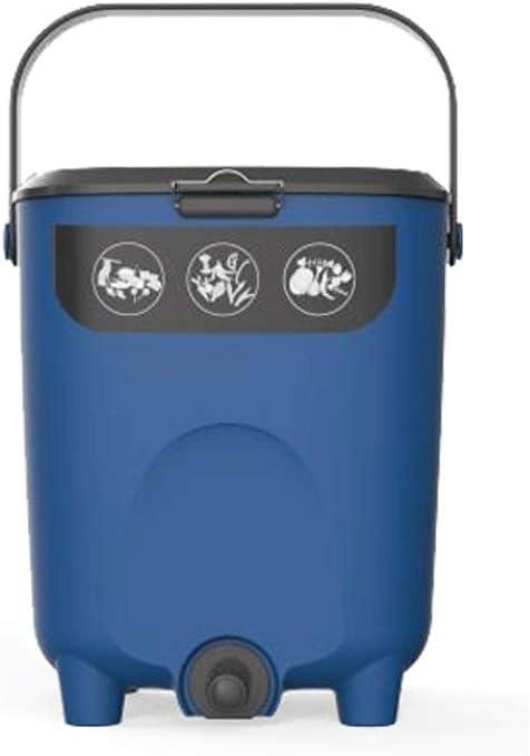 Xuejuanshop Cubos de Basura Cocina Balcón Jardín Compost Bin, Basura Verde Residuos colector 2.6 galones Cubo de Reciclaje (Color : Blue): Amazon.es: Hogar