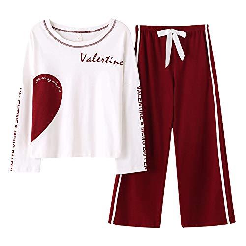Juego Algodón Mujer En Red Llevar Grande Manga Hembra Retro Casa Menos Larga Moda Pijamas Tamaño Para Mmllse xqwPFS8tW