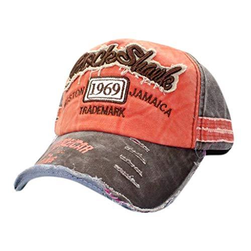 (hositor Cowboy Hats for Men, Men Women's Unisex Vintage Baseball Cap Adjustable Denim Distressed Trucker Hat)