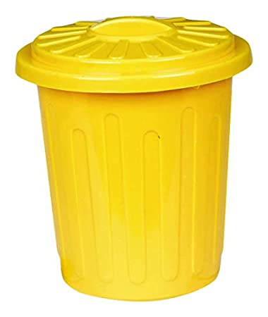 3670dc3c14f7 Amazon.com: Plastic Trash Can Container | Yellow | Party Accessory ...