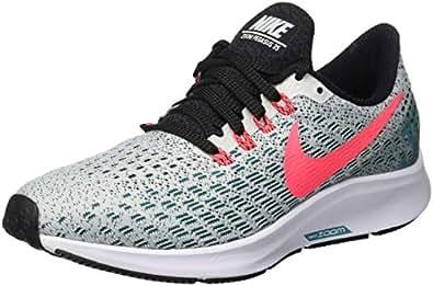 Nike Air Zoom Pegasus 35, Women's Running, Multicolored (Barely Grey/Hot Punch/Geode Teal/Black 009), 4 UK (EU)