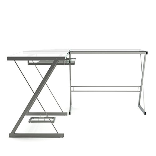 Gibson Living Madison L-Shaped Computer Desk in Silver