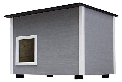 Elmato Deluxe Katzen-Haus mit isolierter Boden, 14mm