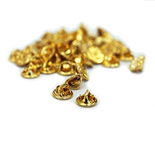 - APEX Brass Butterfly Clutch Metal Uniform Pin Badge Insignia Clutches Backs - Quantity: 50 Pack