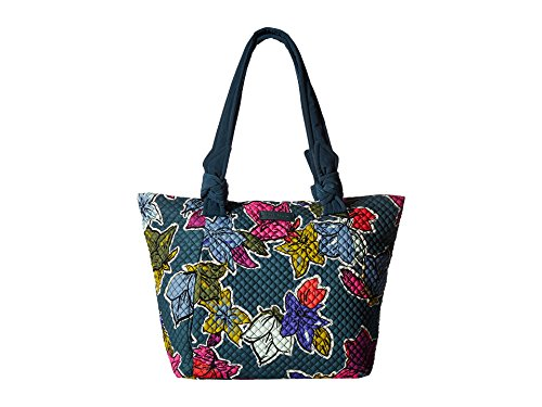 East West Lined Tote - Vera Bradley Women's Hadley East/West Tote Falling Flowers Handbag