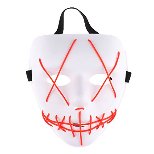 Freebily Halloween Scary Mask, Halloween Cosplay Led Costume
