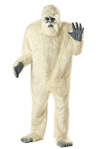 california costumes men's plus-size full faux fur abominable snowman suit costume in plus, white, plus size - Bigfoot Suit