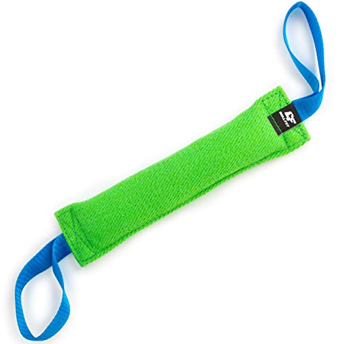K9 Dog Bite Tug Toy with 2 Strong Handles - Made of Durable & Tear-Resistant French Linen - Perfect for Tug of War, Fetch & Puppy Training - Ideal for Medium to Large Dogs - Firmly Stitched Pull Toy