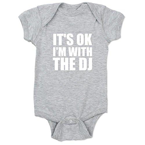 CafePress It's OK I'm With The DJ Baby Bodysuit - 2T Heather Grey