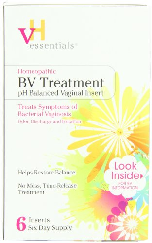 VH Essentials BV Treatment Vaginal Inserts, Homeopathic Time-release, 6 Count