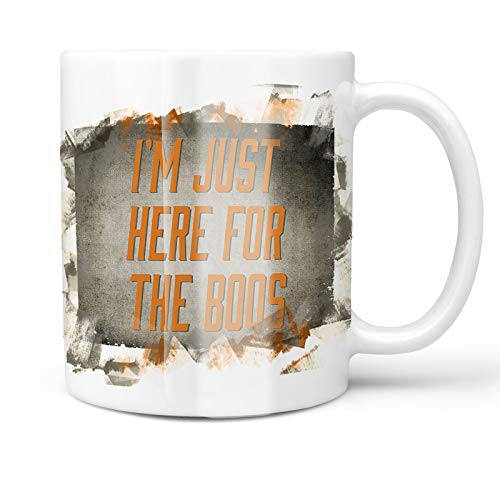Neonblond 11oz Coffee Mug I'm Just Here For the Boos Halloween Spooky Design with your Custom Name]()