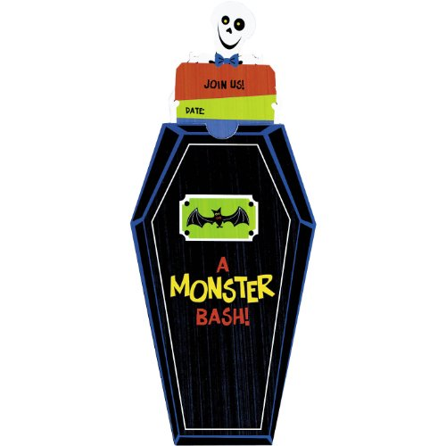 Family Friendly Halloween Monster Bash Novelty Invitations Party Favour, Paper, 7