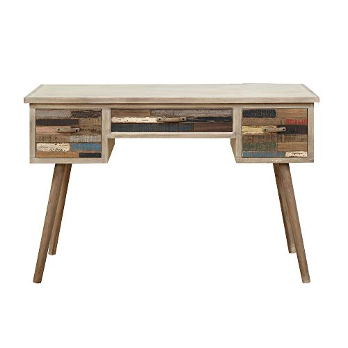 Price comparison product image Felix Desk in Artist Palette with Storage And Telescoped Wood Legs,  by Artum Hill