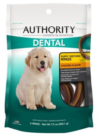 Authority Dental Puppy Teething Rings Dog Treat (Pack of 2)