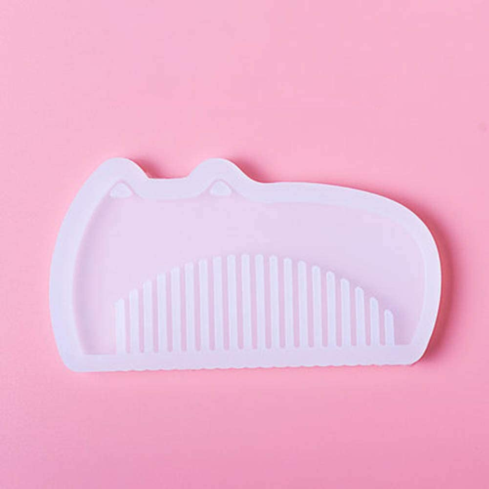 Baoer UV Resin Silicone Comb Mold Epoxy Resin Molds for DIY Caroon Tools Making 1#