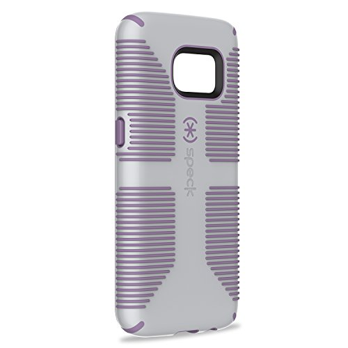 Speck Products Samsung Galaxy S7 Case, CandyShell Grip Case  (Dolphin Grey/Lilac Purple), Military-Grade Protective Case (Speck Purple Case)