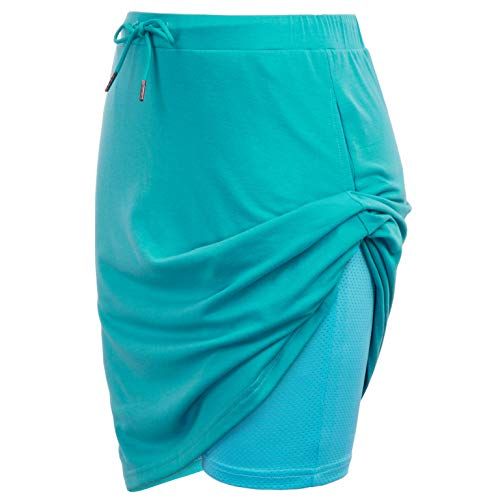 Womens Running Golf Skorts Side Zip Workout Skirt with Pockets(M,Turquoise)