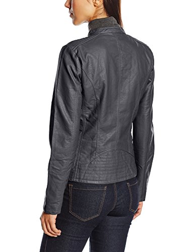 Faux Onlfreya Leather Noos Only Otw Biker Impermeable Gris Phantom Mujer 75Odqxw