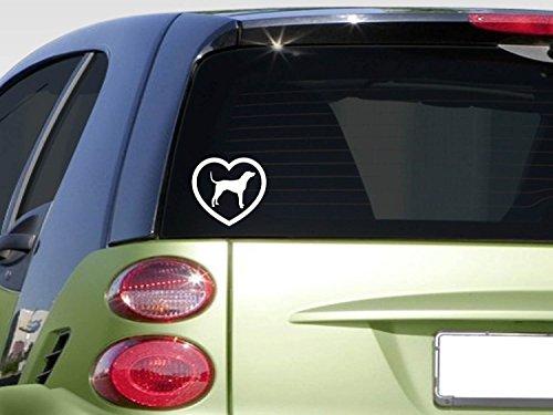Heart Coonhound *F376* sticker decal treeing walker redbone bluetick dog box 2a