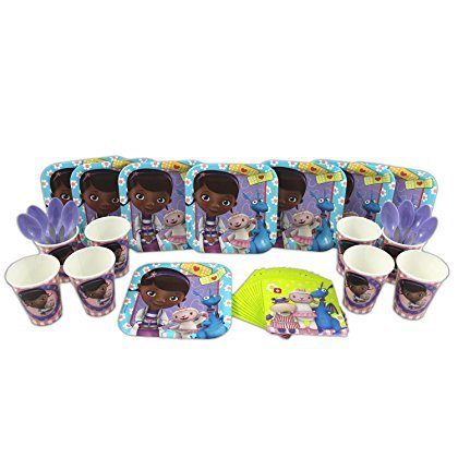 Doc McStuffins Cake Plate, Napkin, Cup, and Spoon Party Set for 8 by Disney