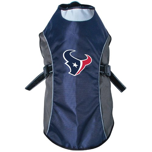 NFL Houston Texans Hunter Reflective Pet Jacket, Medium, Black or Navy