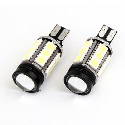 Amazon.com: eDealMax Blanco 15 5050 SMD LED w lente LED T15 1W Vehículo luz de Freno: Automotive