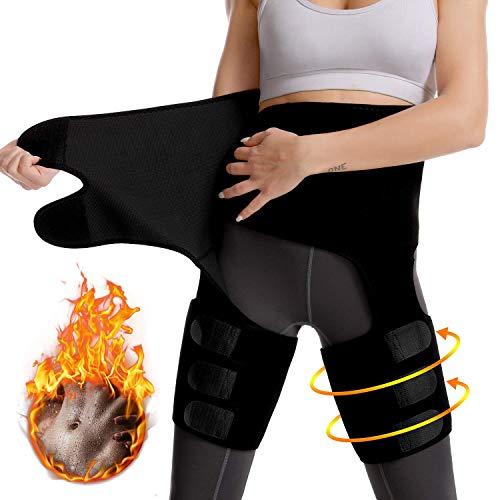 """Dezem High Waist Trainer for Women, 3 in 1Body Shaper Belt-Waist/Thigh Trimmer Sweat Band- Weight Loss Everyday Wear (M(Waist:27.5""""-35.4"""";Leg:18""""-29.5""""))"""