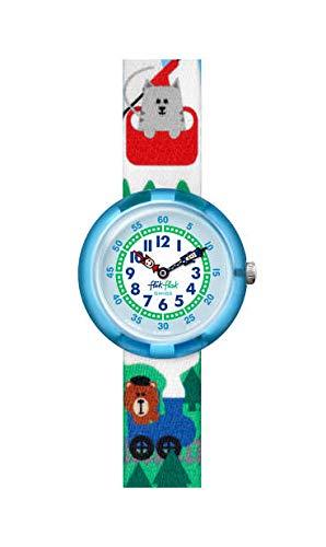 b72c2014111a Flik Flak Reloj Analógico para Unisex Niños de Cuarzo con Correa en Tela  FBNP108  Amazon.es  Relojes