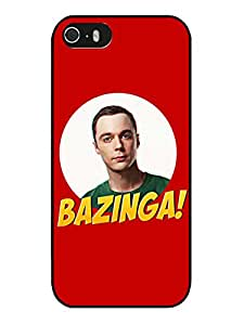 Customization Bazinga Sheldon Cooper Black Phone Case For iPhone 5 5S Cover Case