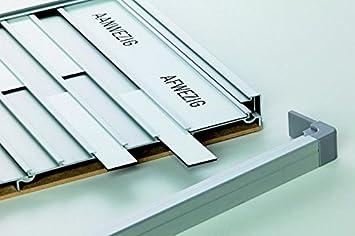 Nobo 1901964 Infotafel schwarz Begr/ü/ßungstafel, magnetisches Whiteboard, An-//Abwesenheit f/ür 20 Namen, Mitteilungen, Aluminiumrahmen, 460 x 960 mm