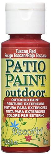 DecoArt Patio Paint 2-Ounce Tuscan Red Acrylic Paint (Paint Patio Oz Decoart 2)