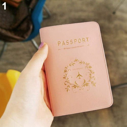 Nalmatoionme Rose Simple durable passeport Organiseur de protection de Coque Accessoires