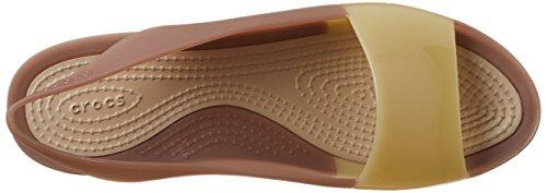 Crocs Colorblock Slingback Plat Bronze / Tumbleweed