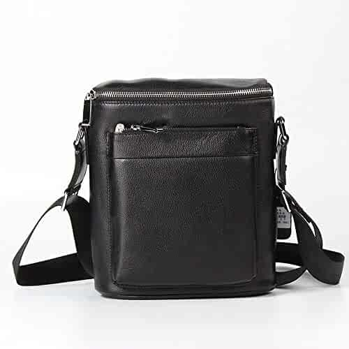 Color : AS Photo RICHARD BALDWIN Mens Bag Top Layer Leather Casual Shoulder Bag Mens Casual Handbag Leather