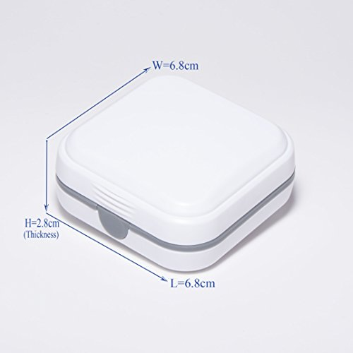 Durable Hearing Amplifier Storage Case - Ideal for CIC ITE BTE RIC Hearing Aid/Small Electronic Device, White by MicroEar (Image #5)
