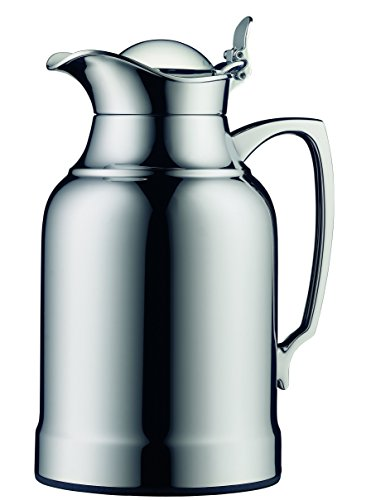 Alfi Opal Chrome Plated Brass Thermal Carafe, 8-Cup