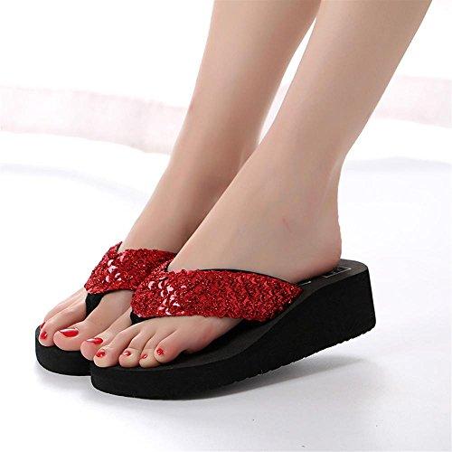 Rosso Pantofola Bambini Pantofolescarpe Donna Scarpe Langmotai Di Zeppe Cunei Piattaforma pwz1wE