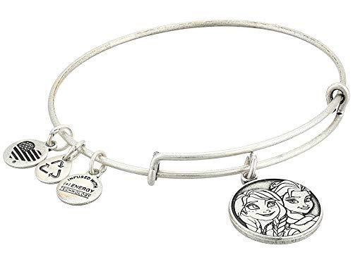 Disney Parks Alex and Ani Anna Elsa Frozen Silver Bracelet Charm New