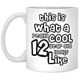 This is what a really cool 12 year old look like, Funny 12th Birthday Gifts for Boy & girl -...
