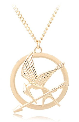 Buy big size hunger games gold plated mockingjay pendant long big size hunger games gold plated mockingjay pendant long necklace gold aloadofball Images