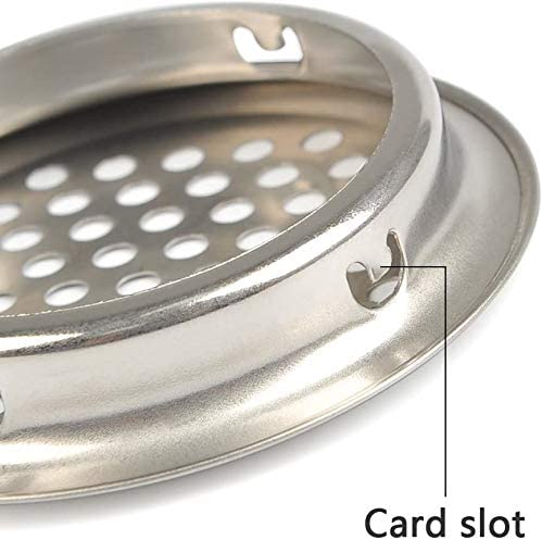 GBSTORE 10 Pcs Air Vents 35 mm Circular Soffit Stainless Steel Round Mesh Hole Louver Honeycomb Vent Cover Grommet for Kitchen,Bathroom,Cabinet,Wardrobe and Shoebox